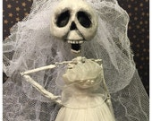 Skeleton Bride Doll / Art Doll / Dolls and Miniatures / Gothic / DEADutante