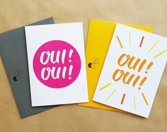 Oui! Oui! - Fun French Greeting Card