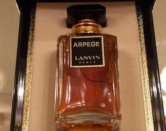Arpege Perfume  1/2 oz Vintage Lanvin Perfume Extrait Sealed Bottle with Cord