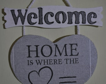 Welcome Heart Sign