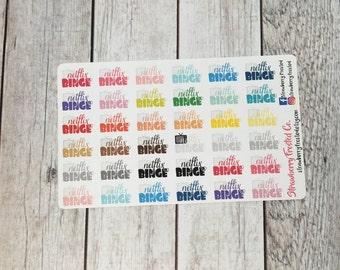 Netflix Binge Multicolor- Happy Planner & Planner Stickers