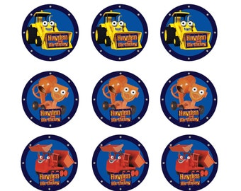 Bob the Builder Edible Image Real Icing personalised Cupcake Toppers