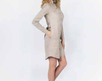 Linen shirt - dress HARPER