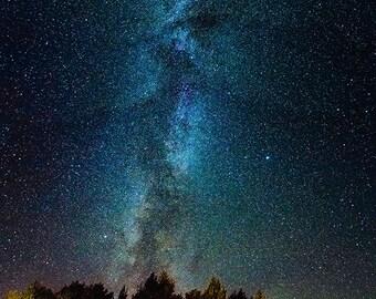 Panoramic photo of Milky Way