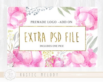 Extra PSD file /Premade logo add on