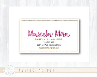 Business Card Photography Business Card Logo Party Business Card Boutique Business Card Elegant Gold Business Card