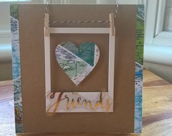 Travel inspired Friends card