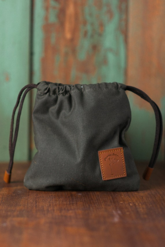 Waxed Canvas Golf Valuables Field Pouch In By Bluegrassfairway