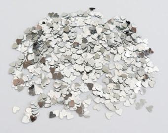 Silver Hearts - Wedding Table Confetti