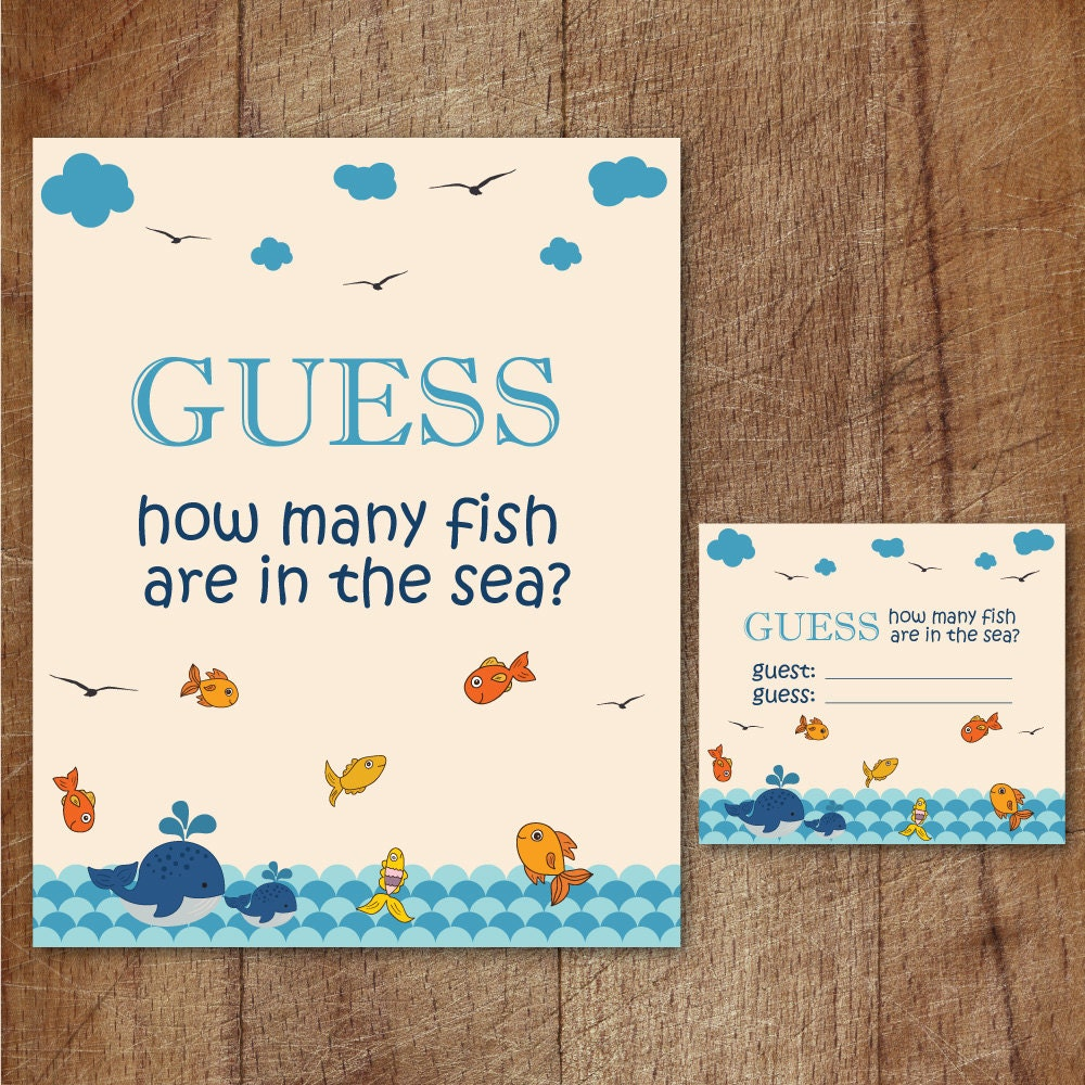Fish in the sea guessing game guess how many fish are in the for How many fish are in the ocean