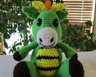 Crochet Amigurumi Baby Dragon/Gift/Collectible