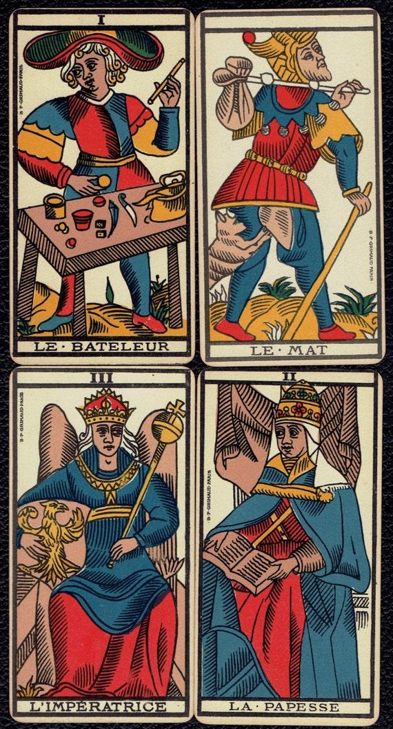 Marseille Tarot Cards 2010: 27. Ancien Tarot De Marseille Tarot Deck 1930 By UpOnHill61