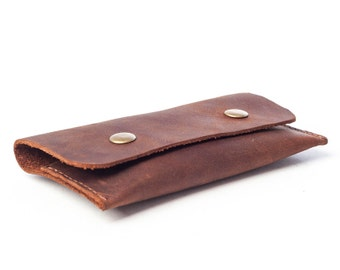 Business card holder, leather coin wallet, business card leather, upcycled leather, coin holder
