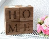 home decor candle holder Wooden Candle holder tea light wedding gift