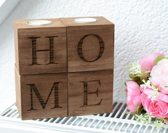 home decor candle holder Wooden Candle holder tea light wedding gift