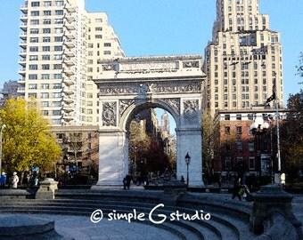 Washington Square Park No. 2, Greenwich Village, New York City, Fresco Photograph, Fine Art Print, Wall Art