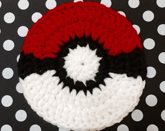 Pokemon, Pokemon Coasters, Set of 4, Crochet Pokemon Coasters