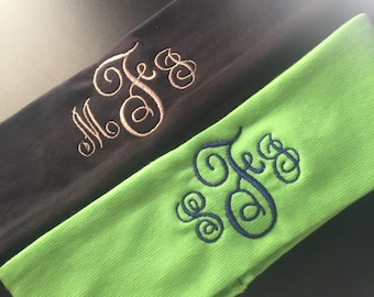 Fancy font Monogramed Headband (3 for 10.99)