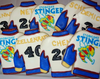 Personalized Jersey Cookies