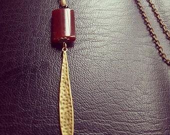 Carnelian gem stone necklace