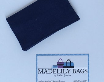 Credit Card,Business Card, Gift Card holder, solid navy