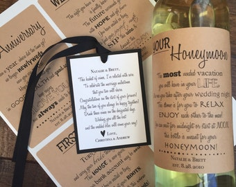 Wedding Firsts Wine Labels, Anniversary Wine Labels, Wedding Wine Labels, Engagement Gift, Wedding Gift, Shower Gift, WINE LABELS