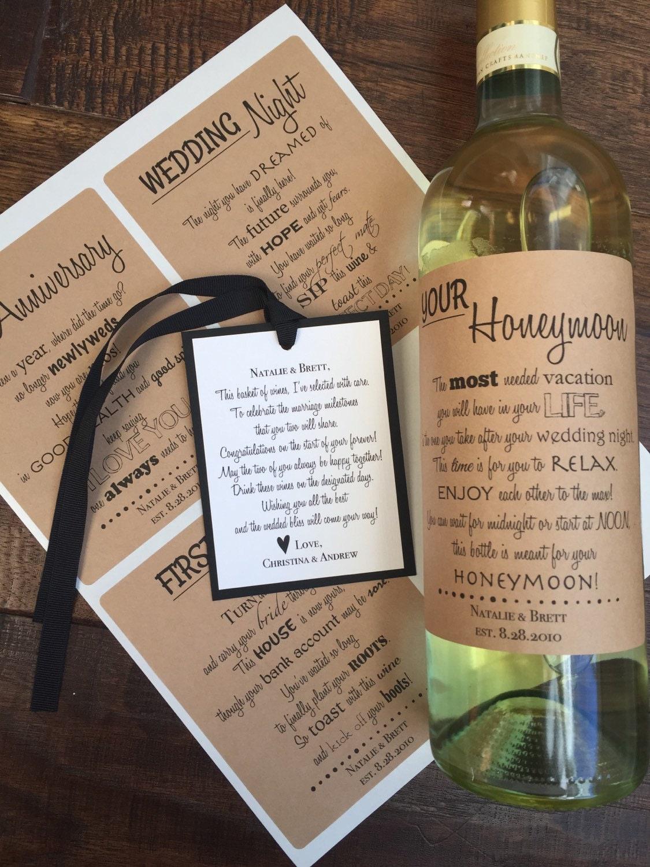 Wedding Firsts Wine Labels Anniversary Wine Labels Wedding