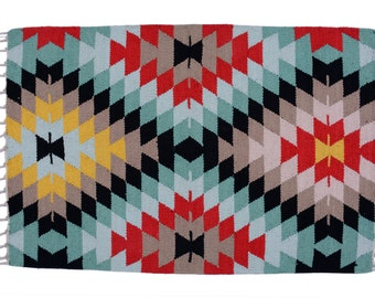 Items Similar To Cotton Kilim Rug Rustic Vintage Romanian