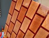 Butcher Block End Grain Brick Cutting Board - Hard Maple & Padauk