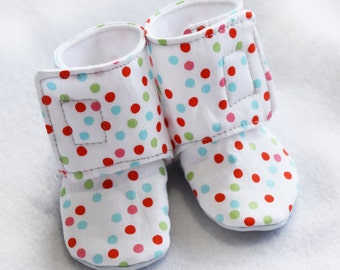 Baby 'Stay On' Boots - Baby Shoes - Slip on Baby Shoes - Custom Shoes- Soft Soled shoes - Infant shoes - Booties
