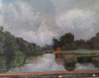 River Scene painted in oils