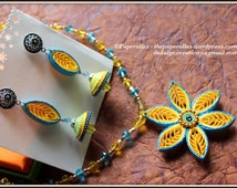 Quilled jewellery set