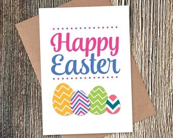 SALE 20% off - Happy Easter Eggs Card