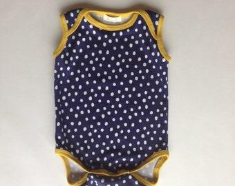 Singlet Onesie-Polka Dots-Organic Cotton Knit