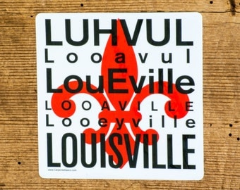 Louisville Car Decal, Louisville Kentucky Car Decal, Car Decal, Fleur De Lis Car Decal