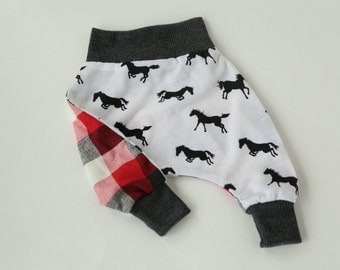 Horse and Plaid Harem Pant