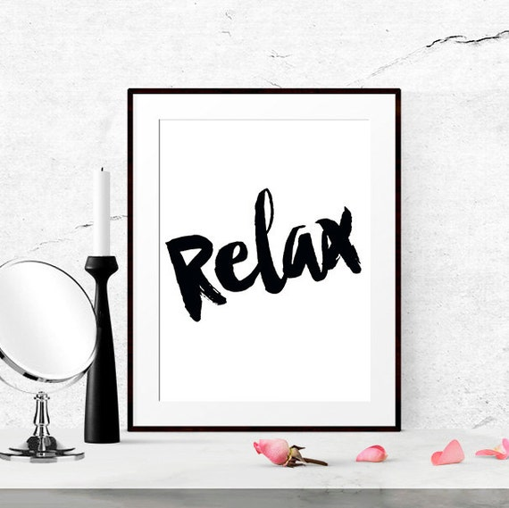 Home Staging Quotes: Items Similar To Relax Sign, Bathroom Art Print, Bedroom