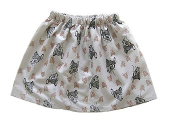 Girls Bambi Skirt, Girls Clothing, Toddler Girls Skirt, Beige Skirt