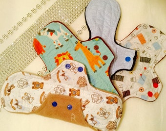 Cloth Pads that are eco friendly and re-usable, made by me, for you.