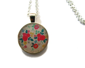 GIRLS FLOWER NECKLACE - Flower Girl Necklace - Girls Necklace - children's jewelry - Flower necklace - Pastel Necklace