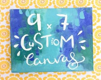Custom Canvas and Stand 9 x 7 cm Acrylic