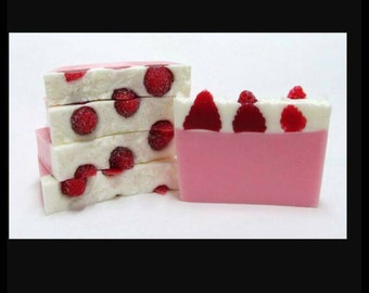 Strawberry cheesecake Handmade Soap. SLS free