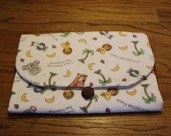 Zoo - Hand-crafted Travel Changing Pad – Many Designs Available