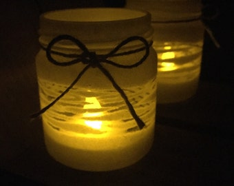 White Candle Holder - wedding, engagement party, centrepiece, home decor, tealight candle