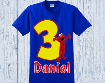 Elmo Birthday Shirt - Sesame Street Shirt - Different Styles Available