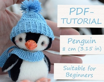 "Miniature Teddy Penguin Pattern. Teddy Pattern. Teddy bear penguin. Soft toy pattern. Teddy tutorial. Teddy bear tutorial (4""/10cm)"