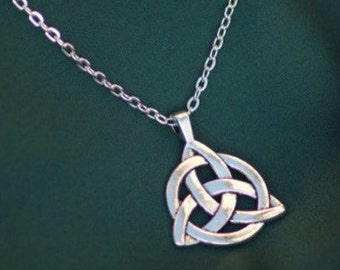 Silver celtic knot necklace celtic charm necklace irish celtic knot necklace silver celtic jewellery irish charm pendant mozeypictures Image collections