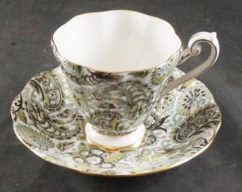 Royal Standard Green Chintz Bone China Cup & Saucer