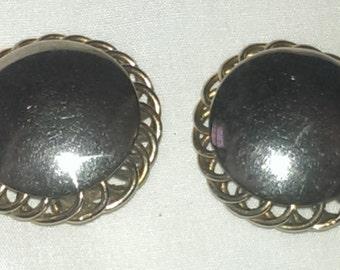 Vintage Napier pat. Pending clip on earrings