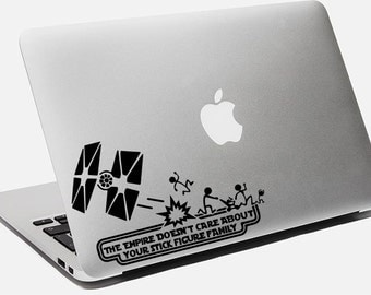 Star Wars Decal The Empire Doesn't Care About Your Stick Figure Family Sticker For Laptop Macbook